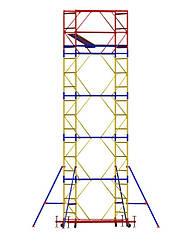 Вышка-тура (1,2х2,0 м) 5+1 строительная передвижная на колесах металлическая ( стальная )