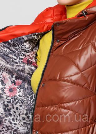 300a6522af8 Женская куртка с брошью 48-58рр рыжий  продажа