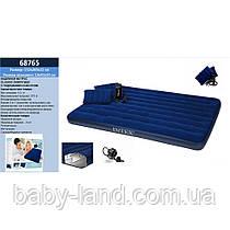Матрас кровать надувная двухместная с подушками и насосом Intex 68765