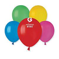 """Воздушные шарики ассорти пастель 5"""" (13 см) латексные круглые шарики оптом Gemar"""