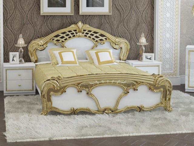 Ліжко з ДСП/МДФ в спальню Єва 1,6х2,0 з каркасом Миро-Марк