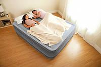 Надувная кровать Intex 67770 с электронасосом (152х203х33). Наличие!