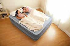 Надувная кровать Intex 67770 с электронасосом (152х203х33).