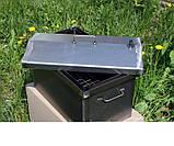 Коптильня черный метал Крышка домиком 520x300x310мм , фото 2