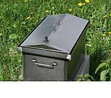 Коптильня черный метал Крышка домиком 520x300x310мм , фото 3