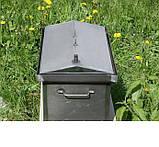Коптильня черный метал Крышка домиком 520x300x310мм , фото 4