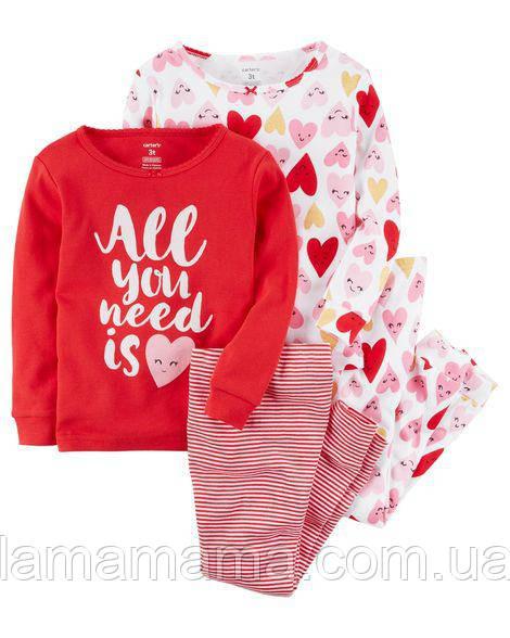 Набор хлопковых пижам Любовь Картерс 5 (108-114 см; 18-20 кг)