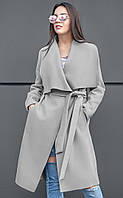 Женское стильное кашемировое пальто с поясом и широким воротником Sofi (разные цвета)