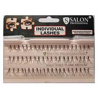 Накладные ресницы Salon Professional Knot Free Flare Medium пучковые безузелковые средние