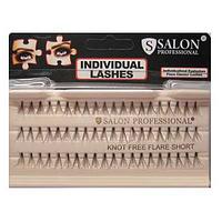 Накладные ресницы Salon Professional Knot Free Flare Short пучковые безузелковые короткие