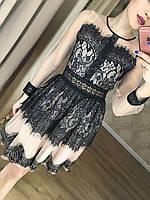 Восхитительное винтажное женское платье (фабричный Китай, длина мини, приталенное с пышной юбкой)
