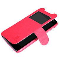 Кожаный чехол книжка Nillkin для HTC Desire 310 красный, фото 1