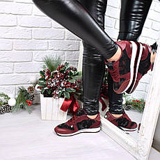 """(36 и 37 РАЗМЕРЫ) Кроссовки, кеды, мокасины женские бордо """"Stars"""", эко кожа, спортивная обувь, фото 3"""
