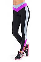 Спортивные лосины SW (размеры 42-44; 44-46; 46-48) (фуксия), леггинсы для спорта и фитнеса из бифлекса