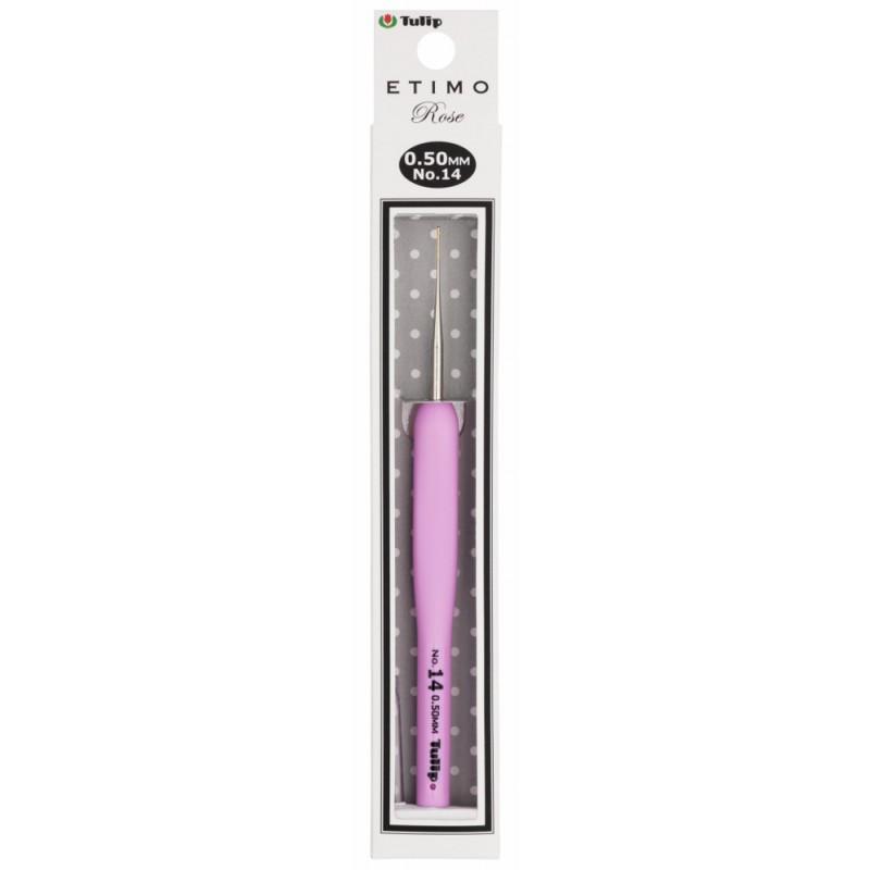 """Крючок для вязания с подушечкой на ручке """"Etimo Rose"""" №14 - 14см х 0,5мм"""