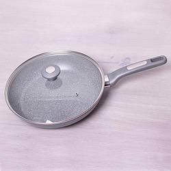 Сковорода Kamille 28 см с гранитным антипригарным покрытием и крышкой
