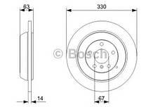 """Гальмівний диск MERCEDES ML(164) 4*4 R """"05, фото 2"""