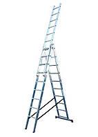 Krause Corda 3x10. Универсальная алюминиевая 3-х секционная лестница.