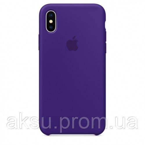 Оригинальный чехол Apple iPhone X Silicone Case, Ultra Violet