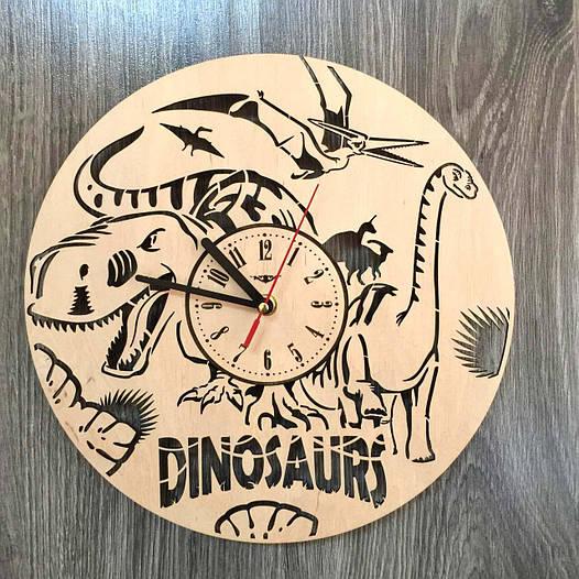 Красивые детские часы из дерева  7Arts Эпоха динозавров CL-0158
