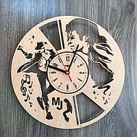 Концептуальные часы из дерева на стену  7Arts Легендарный Майкл Джексон CL-0166