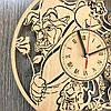 Часы хендмейд из дерева 7Arts Красавица и чудовище CL-0167, фото 4