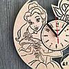 Оригинальные настенные часы в детскую 7Arts Красавица и чудовище CL-0175, фото 3