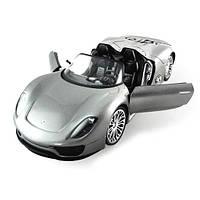 Машинка р/у 1:14 Meizhi лиценз. Porsche 918 (серый) (код 191-104667)