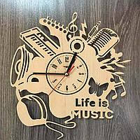 Оригинальные часы ручной работы из дерева 7Arts Музыка CL-0179