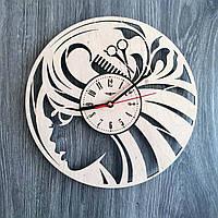 Стильные часы из дерева 7Arts в женский салон красоты CL-0190