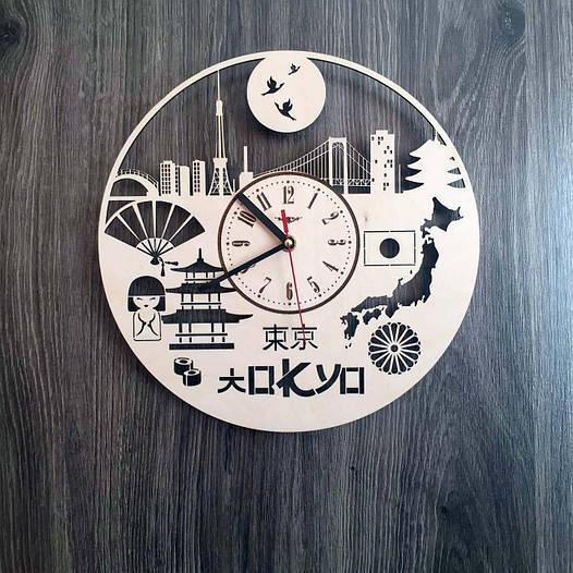 Часы настенные из дерева 7Arts Токио CL-0195