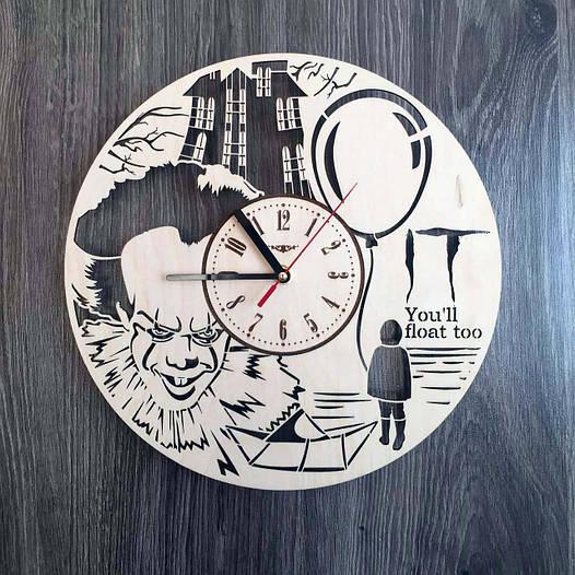 Круглые концептуальные часы из дерева 7Arts Оно CL-0197