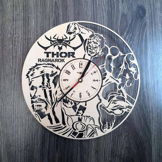Круглые концептуальные часы из дерева 7Arts Тор CL-0198