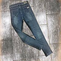 Стильные женские  молодежные джинсы американка с царапками
