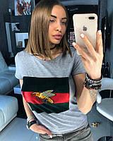 Женская стильная футболка (3 цвета)