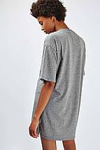 Удлиненная серая футболка Topshop, фото 3