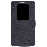 Кожаный чехол книжка Nillkin для LG G2 D802 черный, фото 1