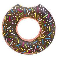 Надувной круг для плавания «Пончик» коричневый, фото 1