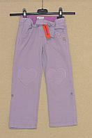 модные брюки-бриджи для девочек б/у,  рост 108