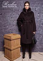 Стильное зимнее женское пальто больших размеров ТМ Raslov, модель 946