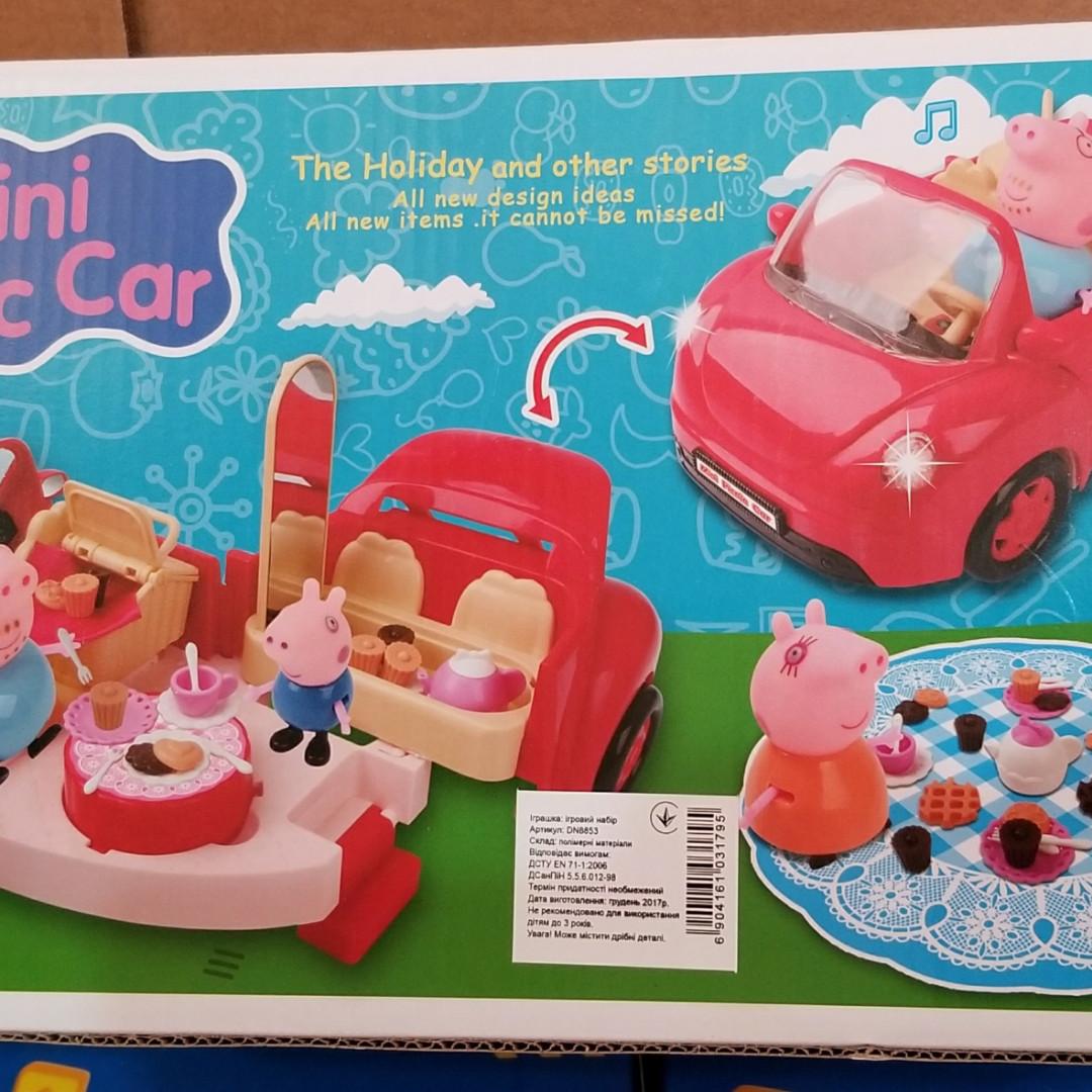 Ігровий набір Автомобіль для пікніка Свинка Пеппа Peppa Pig DN 8853