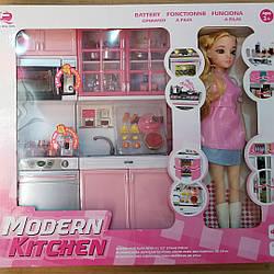 Игровой набор Кухня с Кукла Маленькая хозяйка 3 Розовая 26214р