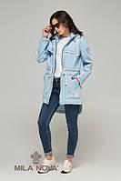 Куртка-жакет коттон джинс голубая