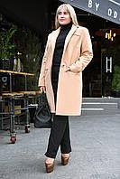Женское кашемировое пальто в разных цветах с карманами. Ткань: кашемир. Размер: с,м,л,хл,ххл,хххл.