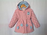 Демисезонная куртка для девочек 3-6 лет Розница +80гр, фото 1