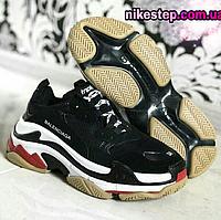 Женские кроссовки Balenciaga Triple S черные