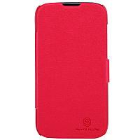 Кожаный чехол книжка Nillkin для Huawei G610 красный, фото 1