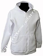 Толстовка женская, на молнии, чесаный флис, карман кенгуру, для сублимации, размер XXL