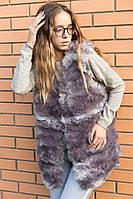 Молодежная, женская жилетка из искуственного меха. РАЗНЫЕ ЦВЕТА Фабричный Китай