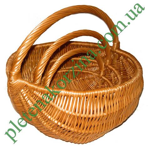 "Набор корзин из трех штук ""Лукошко"" Арт.068-3, фото 2"